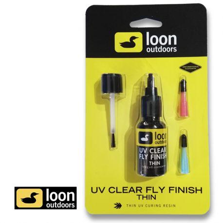 Pegamento UV Clear Fly Finish Thin LOON OUTDOORS